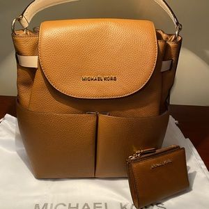 Michael Kors Backpack and wallet